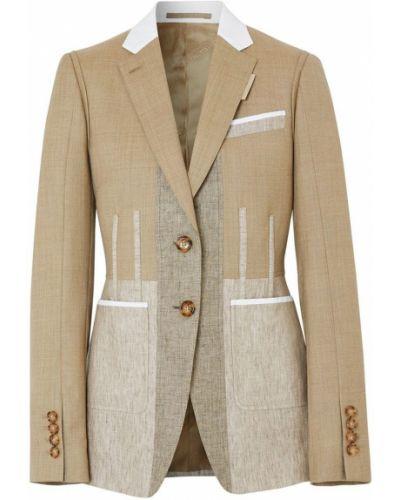 Приталенный удлиненный пиджак с подкладкой с воротником Burberry