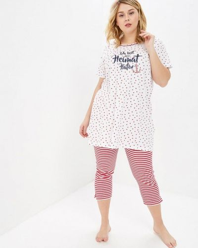 Пижама белая розовый Ulla Popken