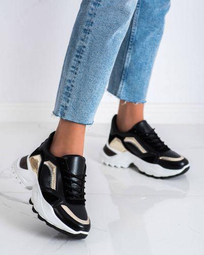 Czarne buty sportowe bez obcasa Shelovet