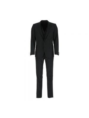 Garnitur slim - czarny Dolce And Gabbana