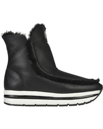 Кожаные ботинки осенние на платформе Voile Blanche