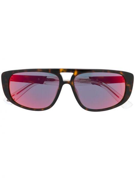 Муслиновые прямые солнцезащитные очки Diesel