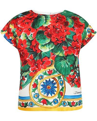 Блузка с принтом с цветочным принтом Dolce&gabbana Children