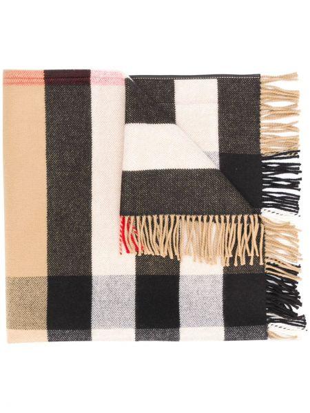 Beżowy włókienniczy szalik przycięte Burberry