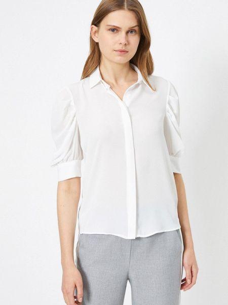 С рукавами белая блузка Koton
