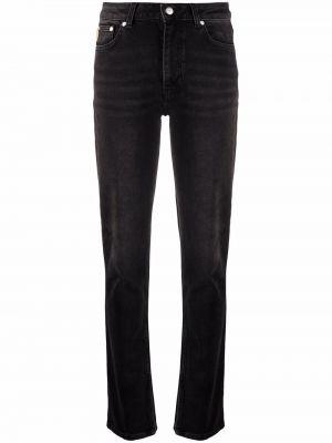 Черные прямые джинсы Ganni