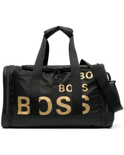 С ремешком черная косметичка металлическая Boss Kidswear