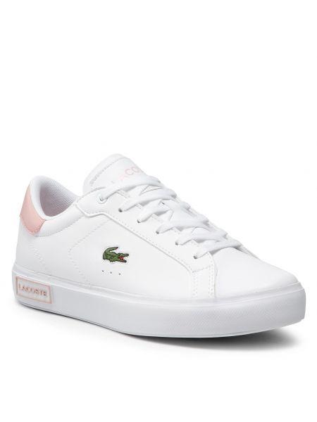 Sneakersy - białe Lacoste