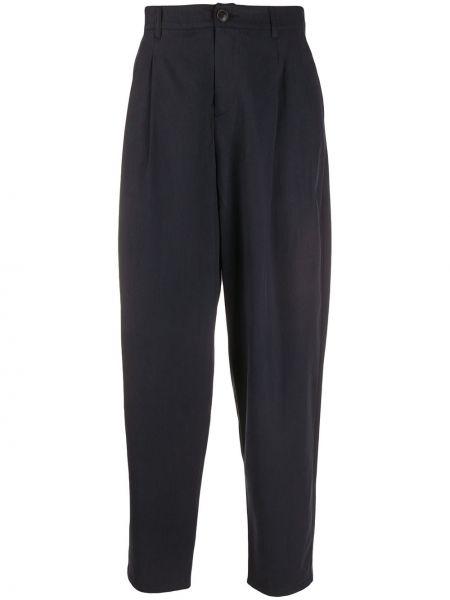 Синие зауженные брюки на пуговицах с карманами бязевые A Kind Of Guise