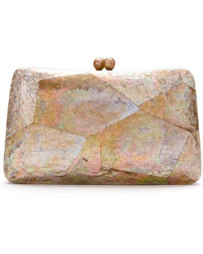 Brązowa kopertówka perły Serpui