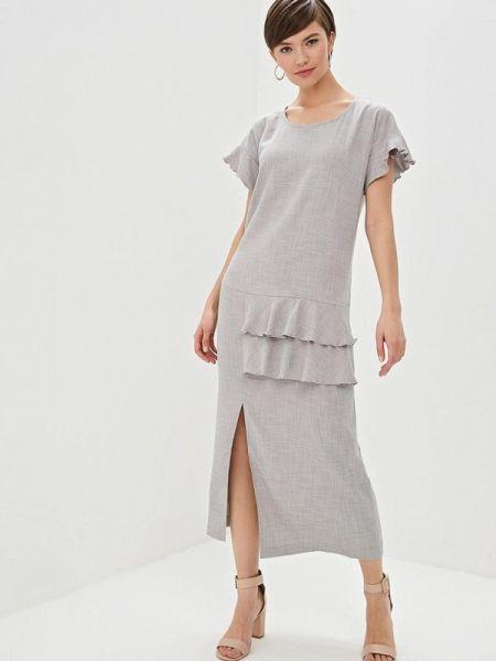 Повседневное платье серое Dizzyway