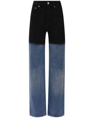 Хлопковые синие джинсы Mm6