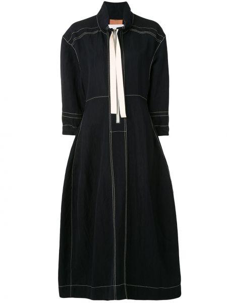 Платье миди на молнии с воротником Jil Sander