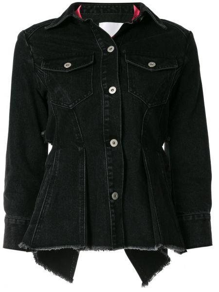 Черная джинсовая куртка с воротником с карманами Ground Zero