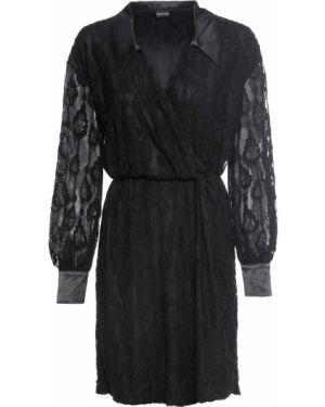 Платье ажурное с воротником Bonprix