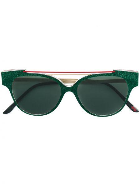 Солнцезащитные очки хаки с декоративной отделкой La Petite Lunette Rouge