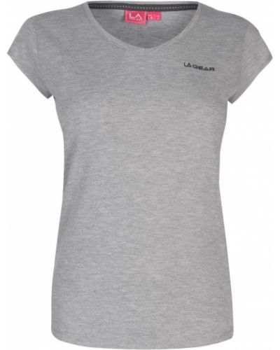 T-shirt bawełniany z dekoltem w serek La Gear