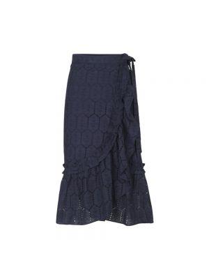 Długa spódnica - niebieska Becksöndergaard