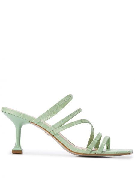 Sandały skórzany zielony Carvela