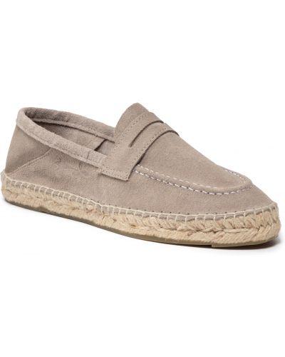 Loafers zamszowe - szare Manebi