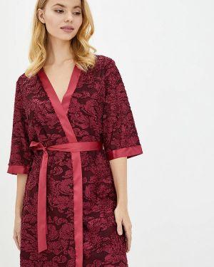 Ажурный красный домашний халат Komilfo
