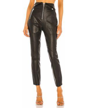 Czarne legginsy skorzane Camila Coelho
