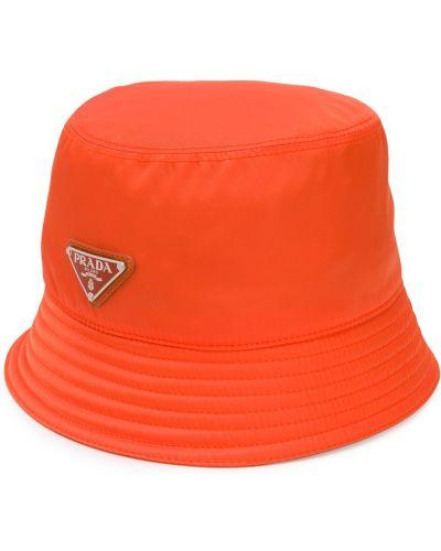 Kapelusz, pomarańczowy Prada