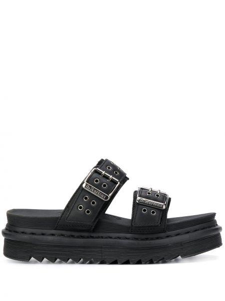 Sandały skórzany czarne Dr. Martens