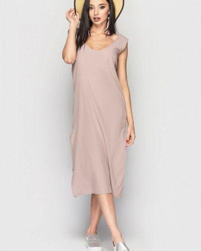 Повседневное платье весеннее бежевое 0101 Brand