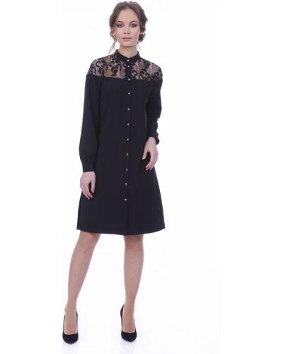 Платье рубашка - черное Lautus