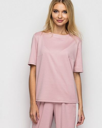 Блузка с коротким рукавом розовая Helenka