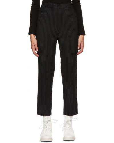 Брючные черные плиссированные брюки с карманами Issey Miyake
