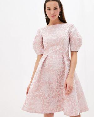 Вечернее платье розовое осеннее мадам т