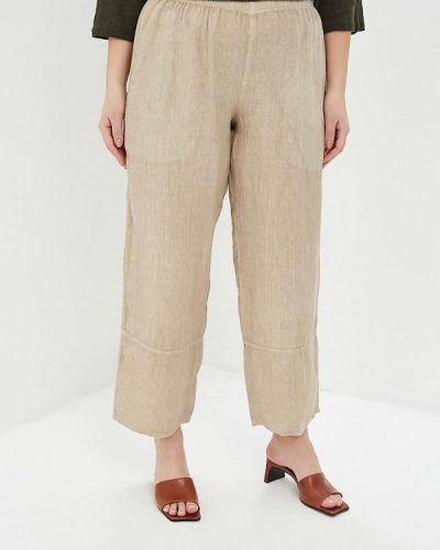 Свободные брюки бежевый итальянский Sophia