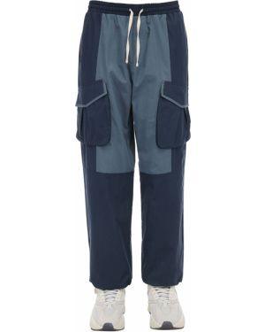 Niebieskie spodnie bawełniane ciążowe Iise