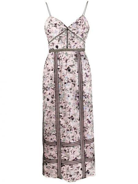 Платье миди розовое с пайетками Self-portrait
