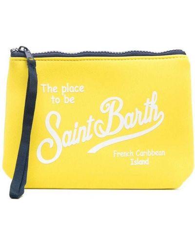 Żółta kopertówka z printem Mc2 Saint Barth Kids