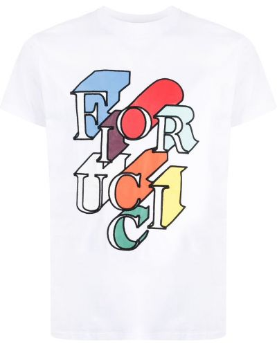 Biała koszulka bawełniana Fiorucci