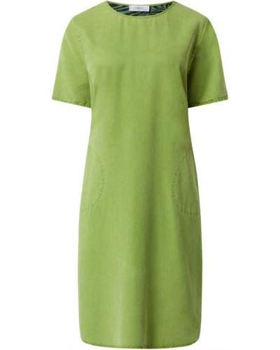 Sukienka rozkloszowana krótki rękaw - zielona Blonde No. 8