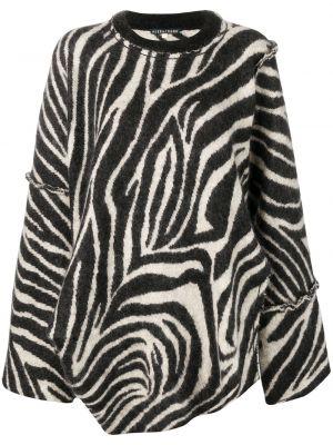 Черный шерстяной длинный свитер оверсайз Alexa Chung
