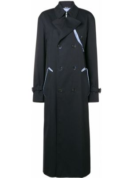 Длинное пальто на кнопках французское Maison Margiela