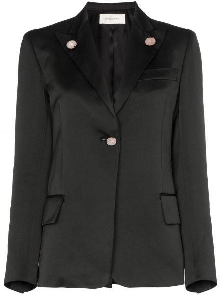 Черный удлиненный пиджак на пуговицах Wales Bonner