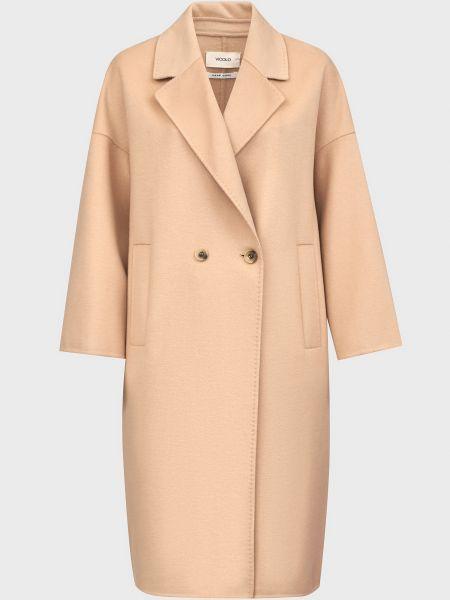 Шерстяное пальто - бежевое Vicolo