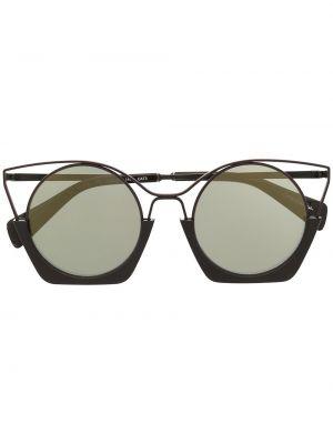 Brązowe złote okulary Yohji Yamamoto