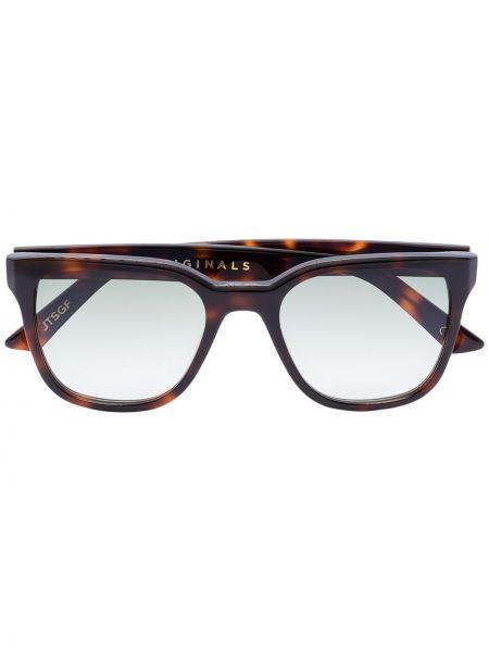 Ciepłe brązowe okulary srebrne Kirk Originals