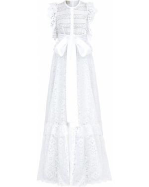 Платье макси в стиле бохо с поясом Elie Saab