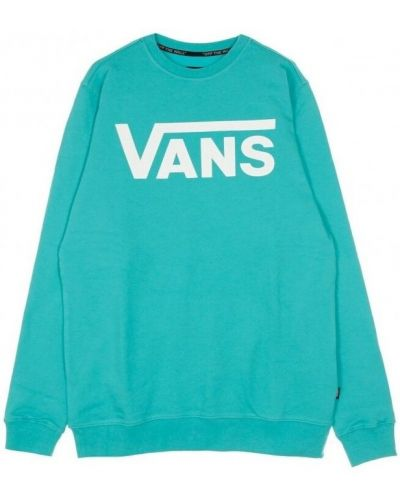 Niebieska bluza długa oversize z długimi rękawami Vans