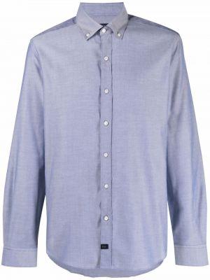 Синяя рубашка длинная Fay