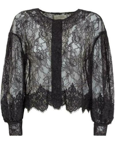 Czarna koszula koronkowa Anna Molinari