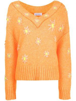 Шерстяной свитер - оранжевый Mira Mikati